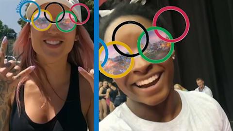 اطلاق فلتر الحلقات الأولمبية بمناسبة عام واحد لطوكيو