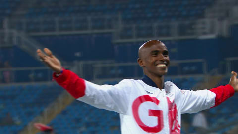 Farah wins gold in Men's 5,000m again