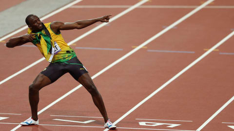 London 2012 - Bolt wins the 200m final