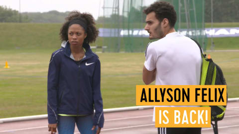 Why Allyson Felix loves being back in Britain!