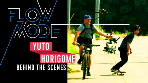 Behind the Scenes: Yuto Horigome skateboards for Flow Mode in Tokyo