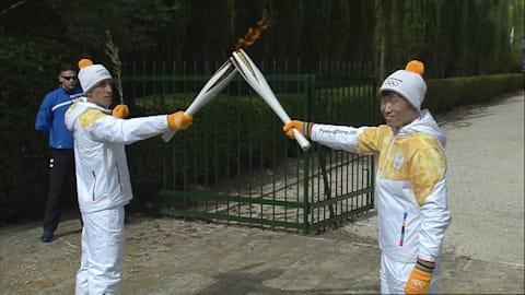 Park Ji-Sung takes Pyeongchang torch