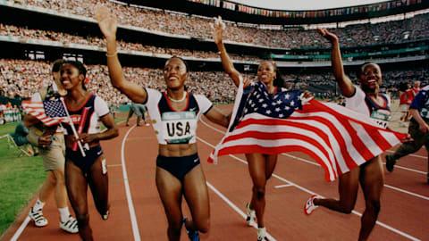 ディバース - アトランタ1996女子4x100mリレーで金メダル
