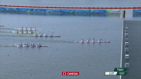 German team win gold in Men's Kayak Four 1000m