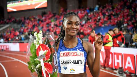 Dina Asher-Smith and Michael Norman shine bright at Stockholm Diamond League