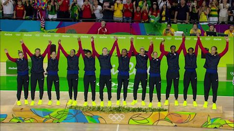 Team USA win gold in Women's Basketball