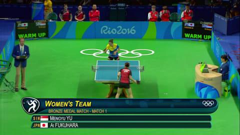 Tennis de Table: Petite Finale femmes par équipes | Replay de Rio 2016