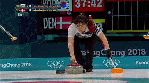 KOR v DEN (Poule) - Curling Femmes | Replay de PyeongChang