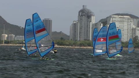 Sailing @ Rio 2016 - Outside of the bay - Men's RS:X Race 3