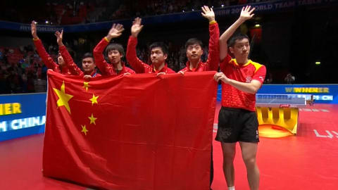 China clinches ninth straight men's world title