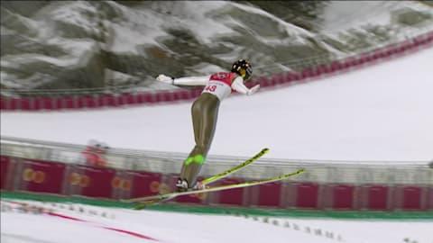 Men's Normal Hill - Ski Jumping | PyeongChang 2018 Highlights