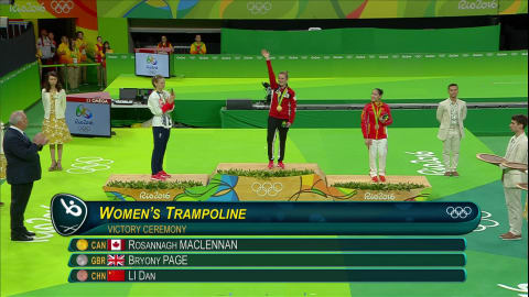 Gold again for MacLennan in Women's Trampoline