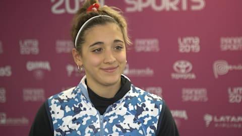 Delfina Pignatiello nunca deja de pensar en los Juegos Olímpicos