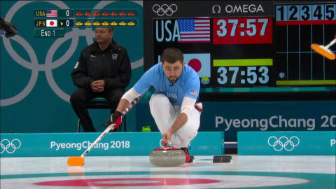 USA v JPN (Round Robin) - Men's Curling | PyeongChang 2018 Replays