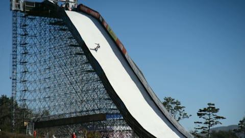Big Air preparado para grande estréia Olímpica!