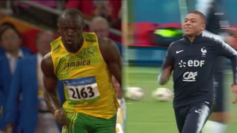 Mbappe ist so schnell wie Bolt
