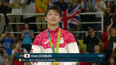 Japan's Uchimura wins All Around Gymnastics gold