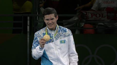 カザフスタンのイェレウシノフがボクシング金