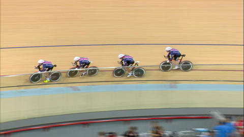 Team GB win gold in Women's Team Pursuit