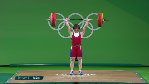 Rim takes gold in Women's 75kg Weightlifting