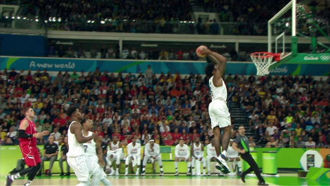 Jordans sensationeller Dunk gegen Serbien