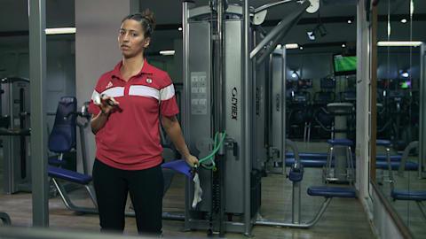 Judo tips: Caren Chammas arms strenght workout