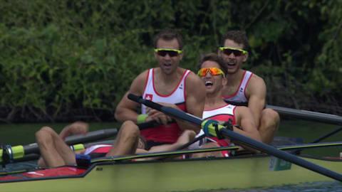 男子赛艇轻量级四人单桨,瑞士夺金