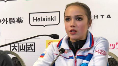 Alina Zagitova unhappy despite winning short program at GP Helsinki
