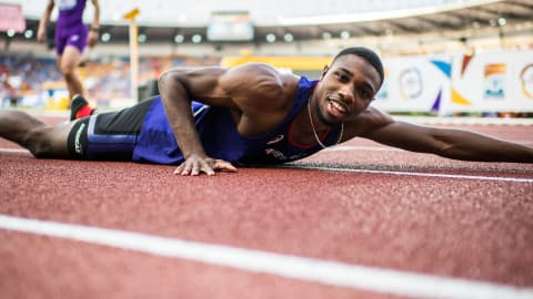 Why does pain feel good for sprint sensation Noah Lyles?