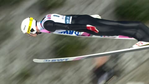 Watch: First Ski Jumping World Cup title for a Russian