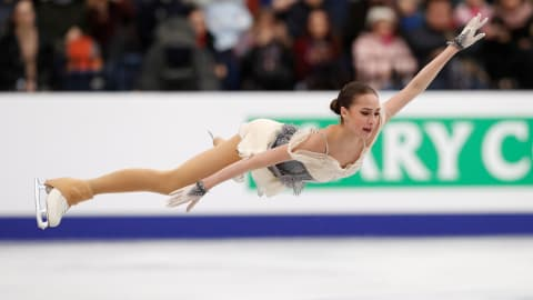 Alina Zagitova leads after short program at European Championships