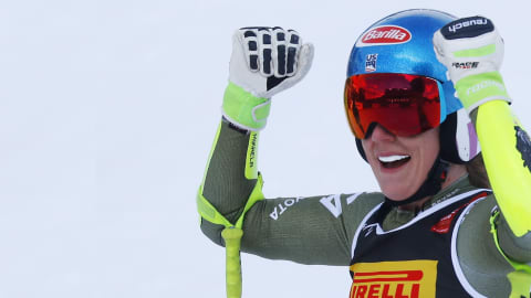 Shiffrin takes world Super-G gold as Vonn crashes out