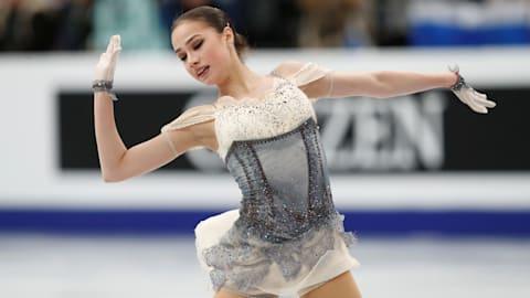 Zagitova leads after ladies' short program at the World Champs in Saitama