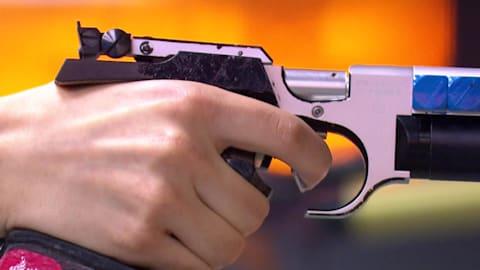 Пневм. пистолет, 10м, мужчины, финал | Стрельба - Европейские игры - Минск