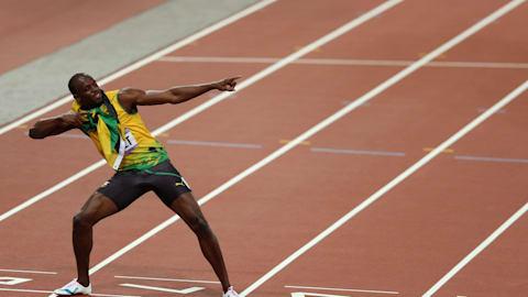 Usain Bolt mit 17