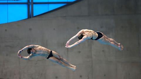 混双3米板决赛   跳水 - FINA 世锦赛 - 光州