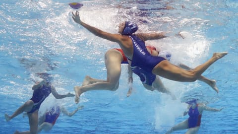 Women's 5-8 A - GRE v RUS   Water Polo - FINA World Championships - Gwangju