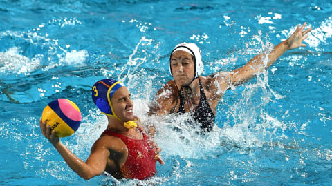 Women's SF 1 - USA v AUS   Water Polo - FINA World Championships - Gwangju