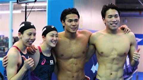 世界水泳・競泳7日目決勝:混合4×100Mで日本チームはアジア新記録で7位。男子50M自由形の塩浦は8位