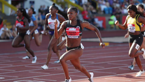Dina Asher-Smith sends out message at British Championships
