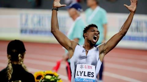Noah Lyles storms past Justlin Gatlin to clinch 100m Diamond League title in Zurich