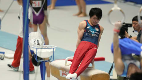 Kohei Uchimura finishes fifth on return at Japanese Senior Champs