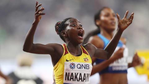 Halimah Nakaayi takes surprise women's 800m title for Uganda