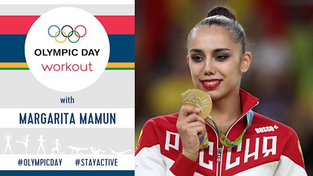 Тренировка в Олимпийский день | #StayActive с Маргаритой Мамун