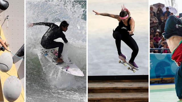 पेरिस 2024 ओलंपिक खेल कार्यक्रम में अस्थायी रूप से ब्रेकिंग, स्केटबोर्डिंग, स्पोर्ट क्लाइम्बिंग और सर्फिंग शामिल हैं