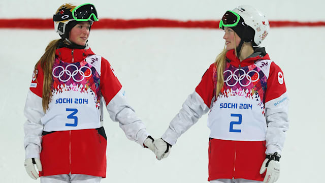Double joy for Dufour-Lapointe sisters in the moguls
