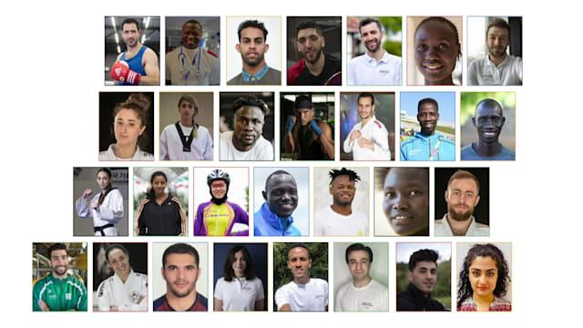 تعرف على أعضاء الفريق الأولمبي للاجئين التابع للأولمبية الدولية