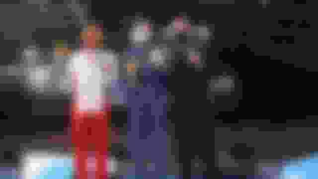 男子蹦床决赛:董栋摘银创造历史,白俄罗斯选手夺魁