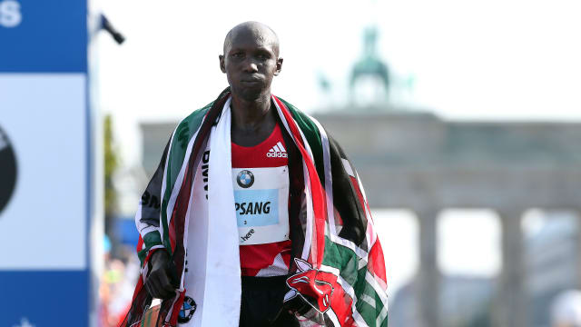 Wilson Kipsang after finishing second in the 2016 Berlin Marathon