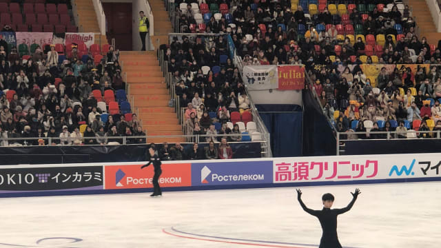 Hanyu practices in Moscow